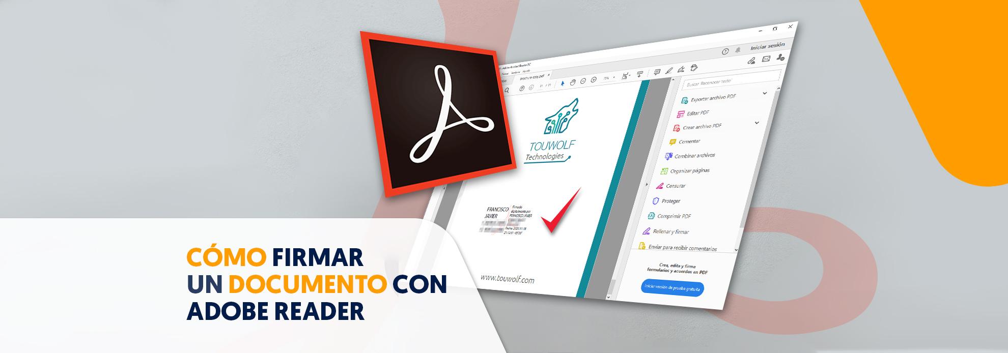 Como firmar con Adobe Reader