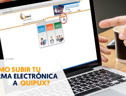 ¿Cómo subir la firma electrónica a Quipux?
